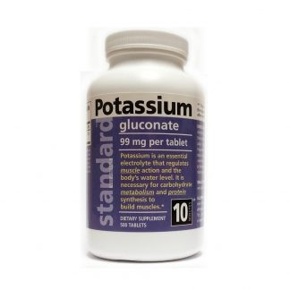 potassium gluconate, 500 tablets bottle image
