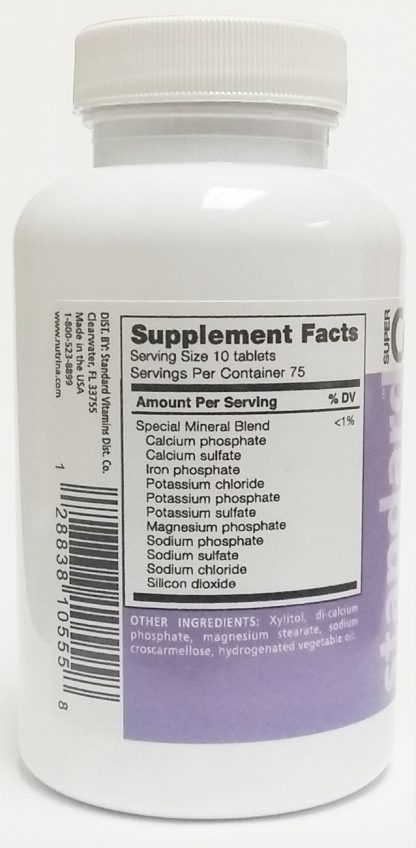 super cell salts 750 tablets nutrition